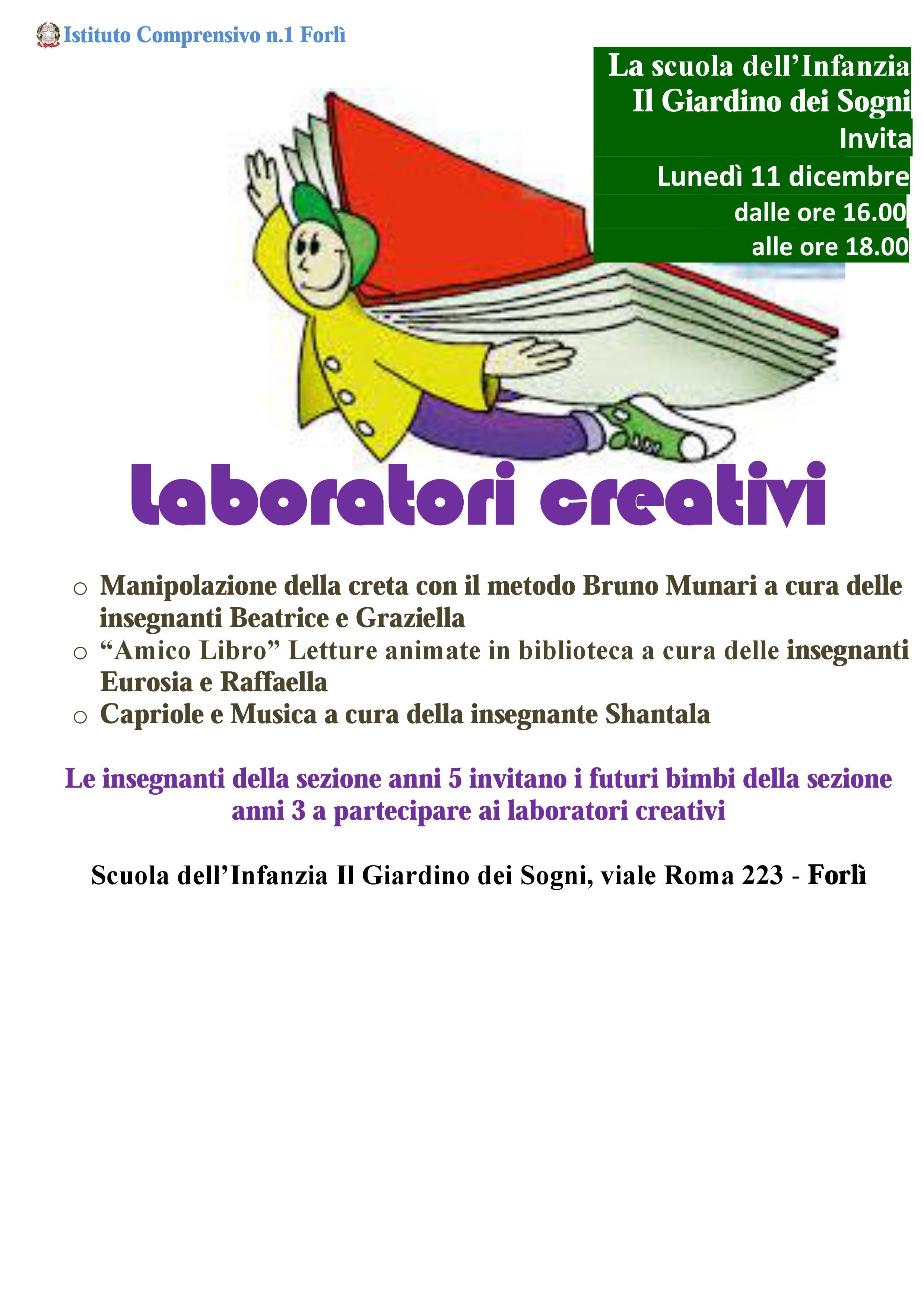 Laboratori Creativi Alla Scuola Dellinfanzia Il Giardino Dei Sogni